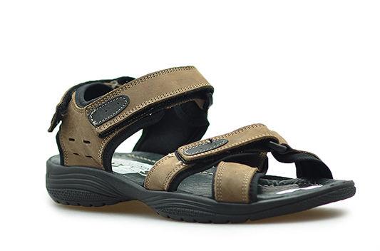Sandały Pan 596 Brązowe lico