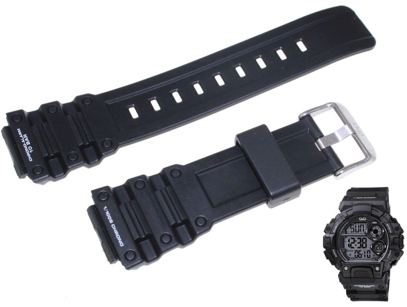 Pasek do zegarka Q&Q M144-001 20 mm Tworzywo