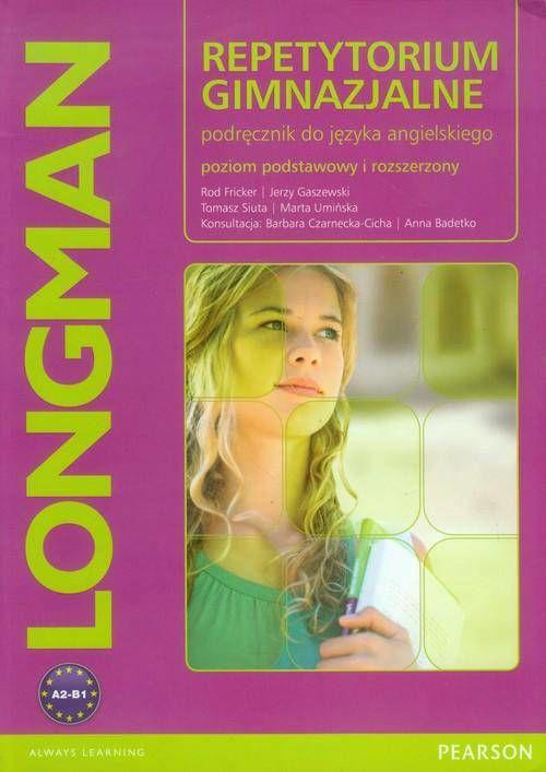 Repetytorium gimnazjalne + CD Poziom podstawowy i rozszerzony Podręcznik do języka angielskiego