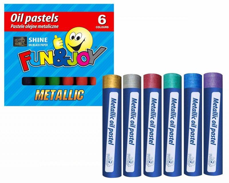 Pastele olejne metaliczne SHINE 6 kolorów FunJoy 204098 6324-PO-FJ