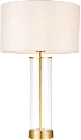 Lampa stołowa Lessina 68802 Endon klasyczna mosiężna oprawa z białym abażurem