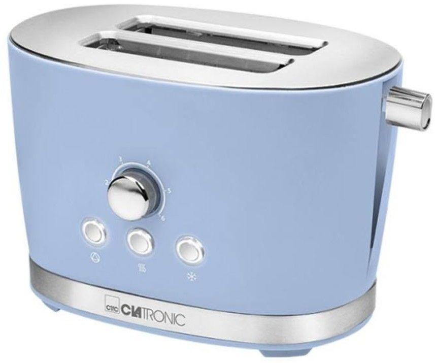 Toster opiekacz retro Clatronic TA 3690 (niebieski)