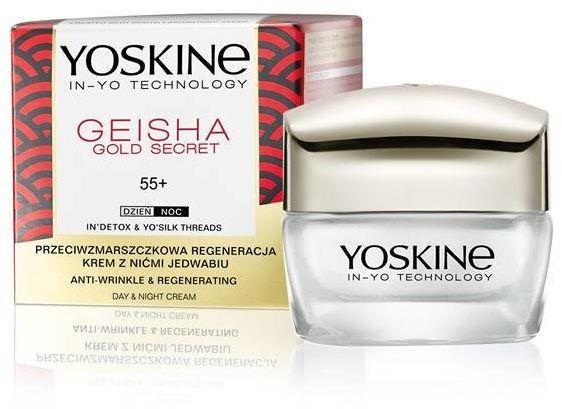 Yoskine Geisha Gold Secret 55+ Krem przeciwzmarszczkowa regeneracja na dzień i noc 50ml