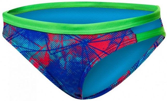 Tyr canvas cove mini bikini bottom red/turquoise/blue 34