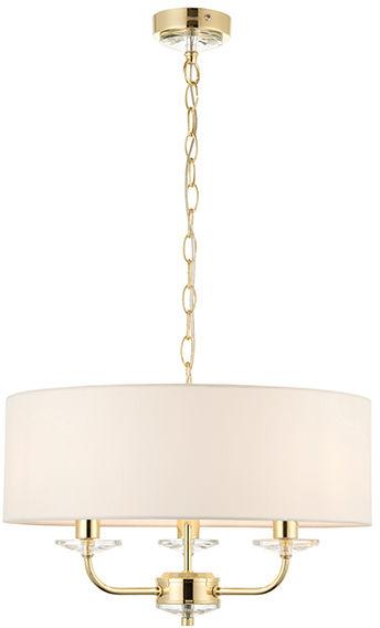 Lampa wisząca Nixon 70560 Endon mosiężna oprawa dekoracyjna w klasycznym stylu