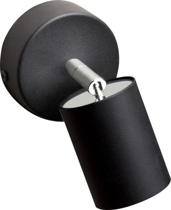 Kinkiet regulowany Eye spot black 1 punktowy czarny 6018 - Nowodvorski Do -17% rabatu w koszyku i darmowa dostawa od 299zł !