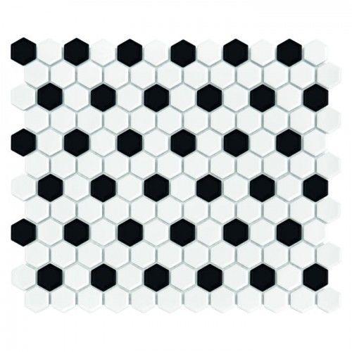 Mozaika Dunin Hexagonic MINI HEXAGON B&W MIX