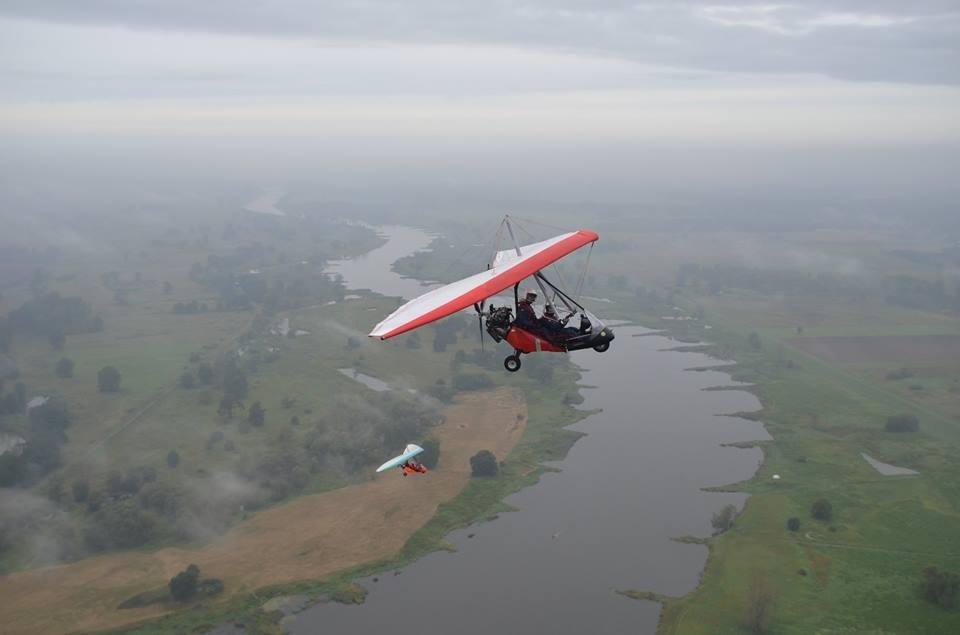 Lot szkoleniowy motolotnią  Kuczwały