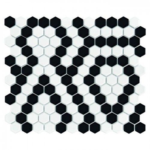 Mozaika Dunin Hexagonic MINI HEXAGON B&W LACE