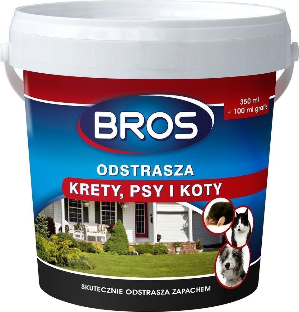 Bros Proszek odstrasza krety, psy i koty 450ml