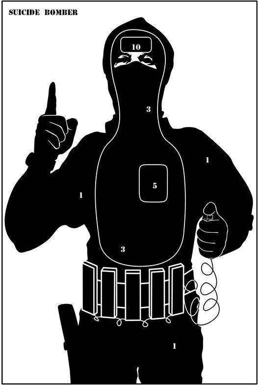"Tarcze sylwetkowe ""Terrorysta"" - pakiet 10 szt."