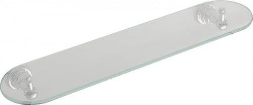 DIAMOND półka łazienkowa szklana 50 cm chrom retro