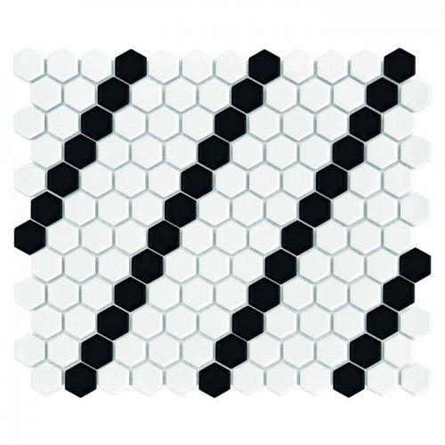 Mozaika Dunin Hexagonic MINI HEXAGON B&W LEAN