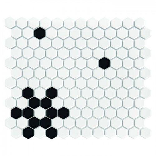 Mozaika Dunin Hexagonic MINI HEXAGON B&W SNOW