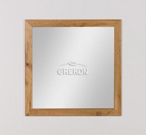 Lustro łazienkowe w ramie, kolor dąb naturalny 80x80cm, Styl Loftowy, Gante GRACE