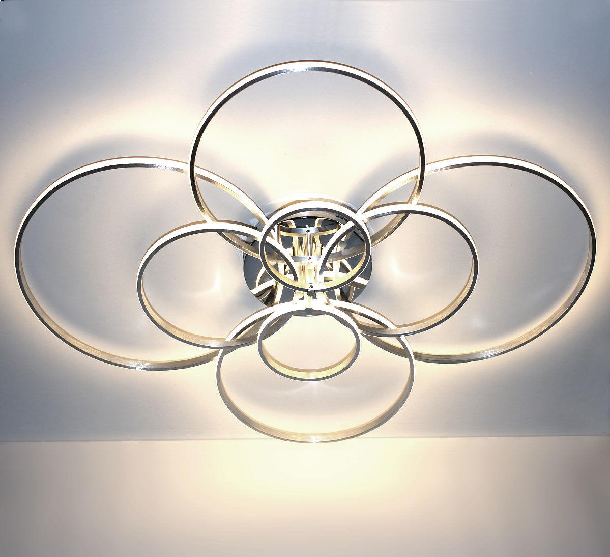 Srebrny plafon LED 110x90cm 3000K 70Watt - P141