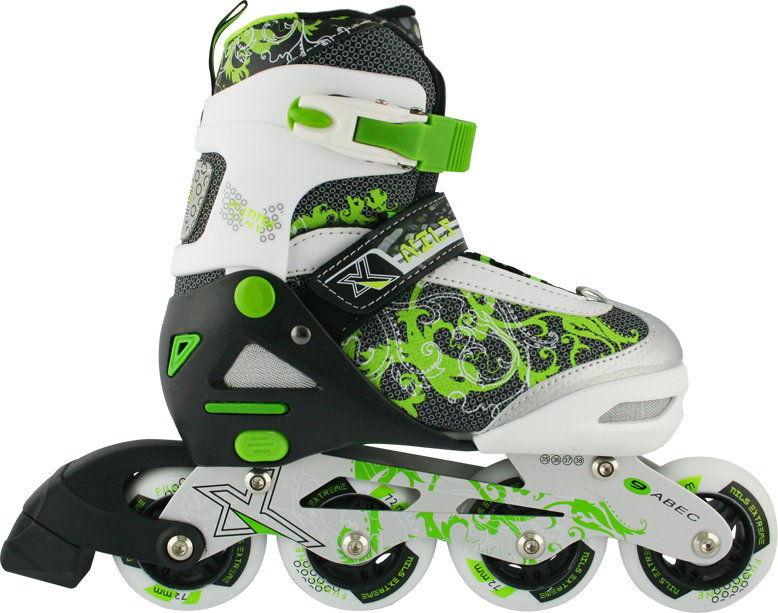 Łyżworolki Nils NJ9012 zielone Rozmiar buta: 31-34