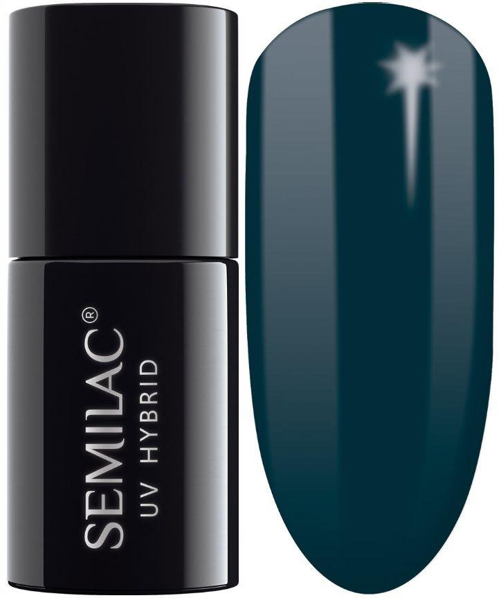 SEMILAC 074 Prussian Blue UV LED Lakier Hybrydowy 7ml