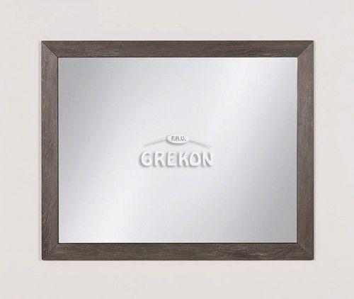 Lustro łazienkowe w ramie szare 100x80cm, Styl Loftowy, Gante GRACE