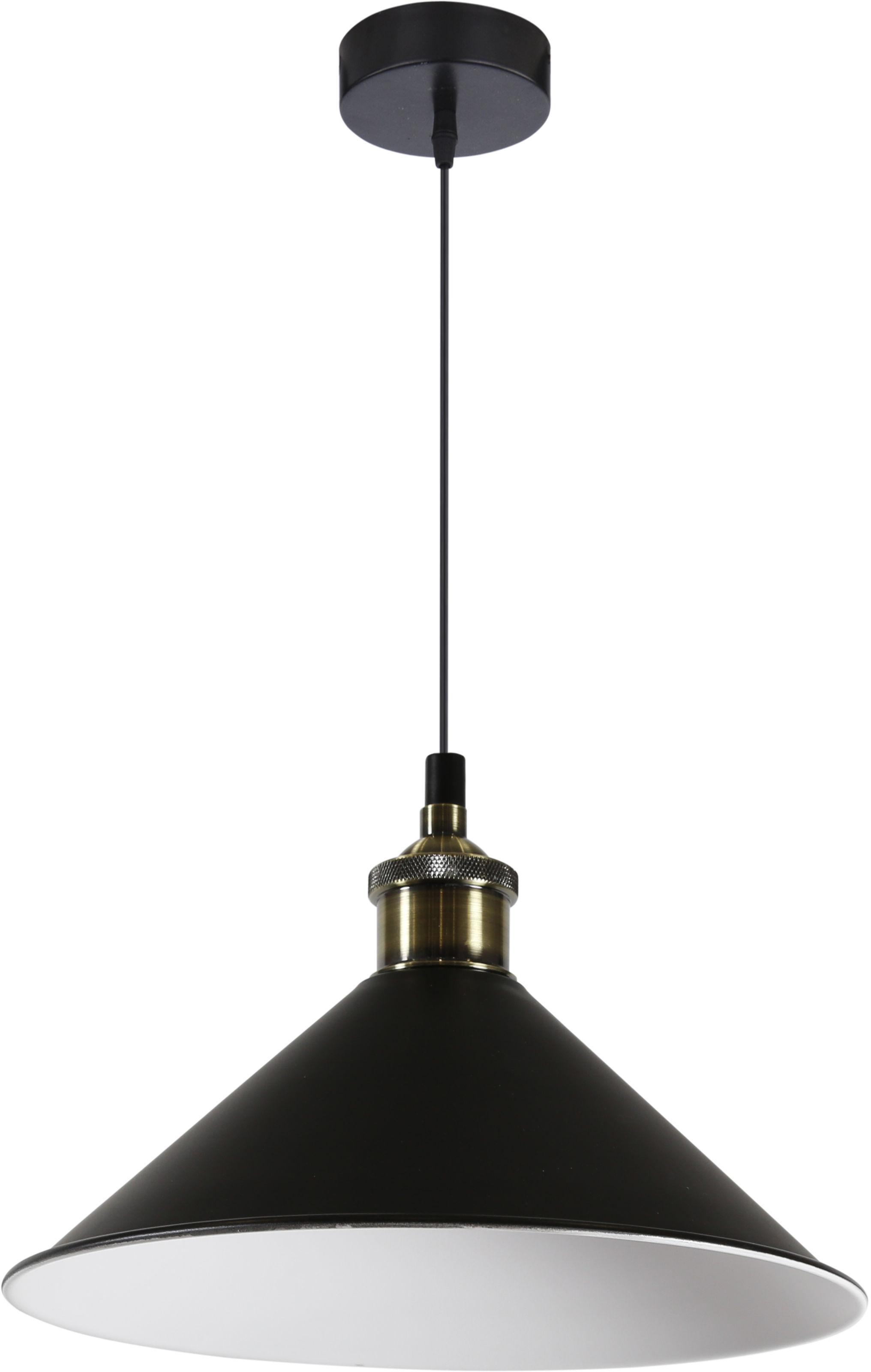 Candellux VELO 31-56313 lampa wisząca 1X60W E27 klosz metalowy czarny 26 cm