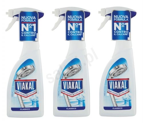 Zestaw Viakal Blu - odkamieniacz w sprayu (3 x 500ml)