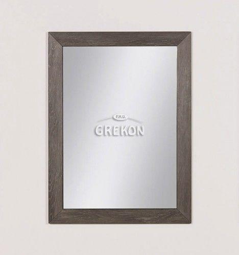 Lustro łazienkowe w ramie szare 60x80cm, Styl Loftowy, Gante GRACE