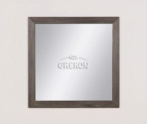 Lustro łazienkowe w ramie szare 80x80cm, Styl Loftowy, Gante GRACE