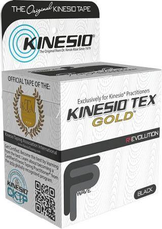 Kinesio Tex Gold 5cm x 5m CZARNY (Finger Print)
