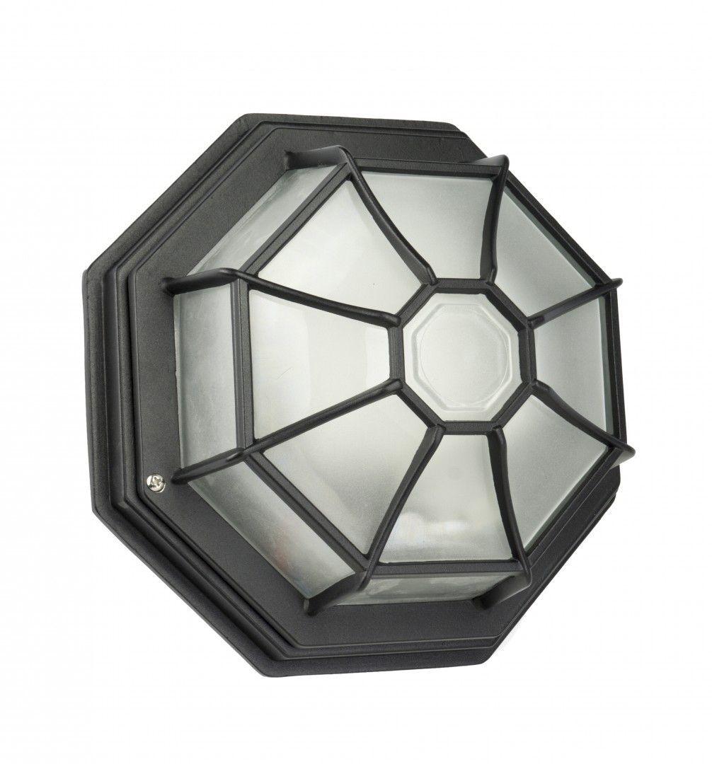 SU-MA Retro Classic K 3012/P SZ kinkiet lampa ścienna czarna IP44