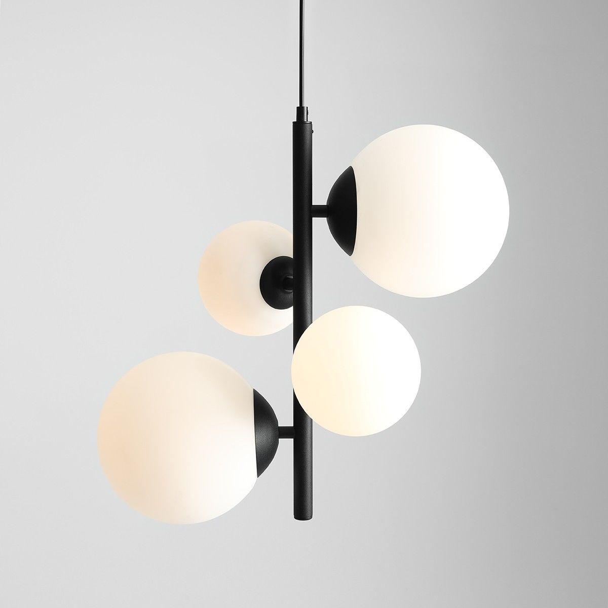 Lampa wisząca Bloom czarna 1091L1 skandynawska szklane klosze - Aldex // Rabaty w koszyku i darmowa dostawa od 299zł !