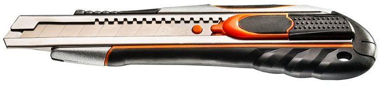 Nóż z ostrzem łamanym 18 mm, szybkie cięcie i blokada ostrza 63-050