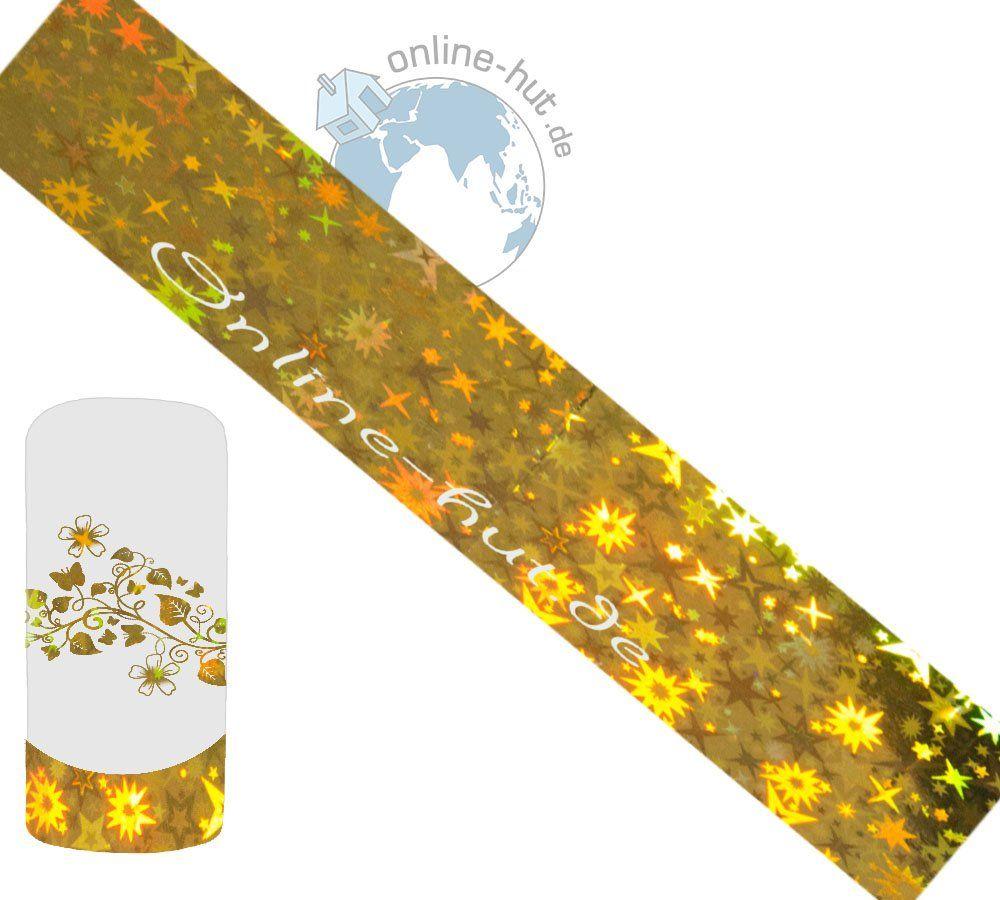 Folia transferowa gwiazdki tło złote-hologram