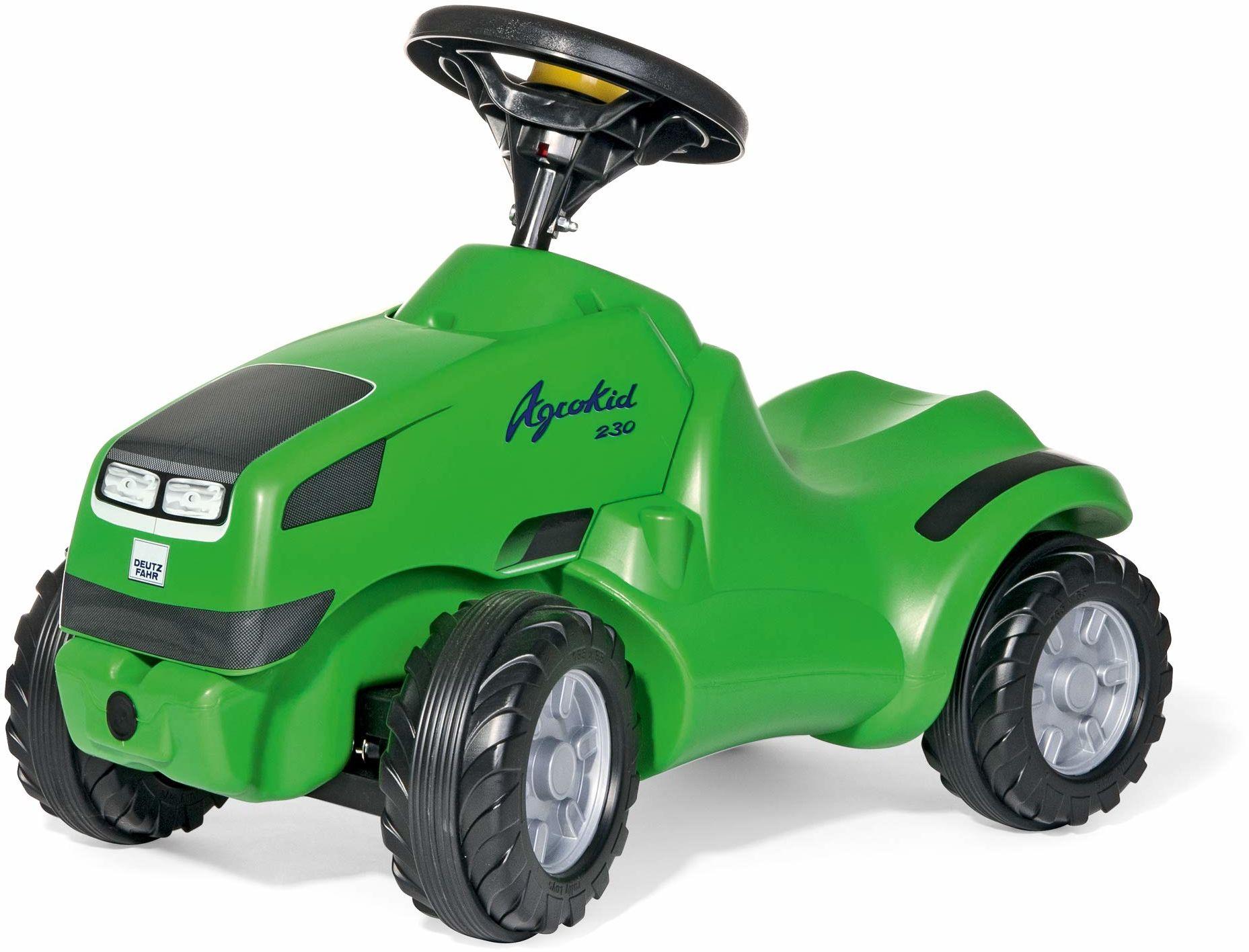 Rolly Toys 13 210 2 Toys wózek dziecięcy rollyMinitrac Deutz Agrokid (z półką, ergonomiczny kształt pojazdu, kierownica z klaksonem, nadaje się dla dzieci od 1  roku życia) 132102