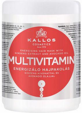Kallos Multivitamin maska energetyzująca do włosów osłabionych 1000 ml