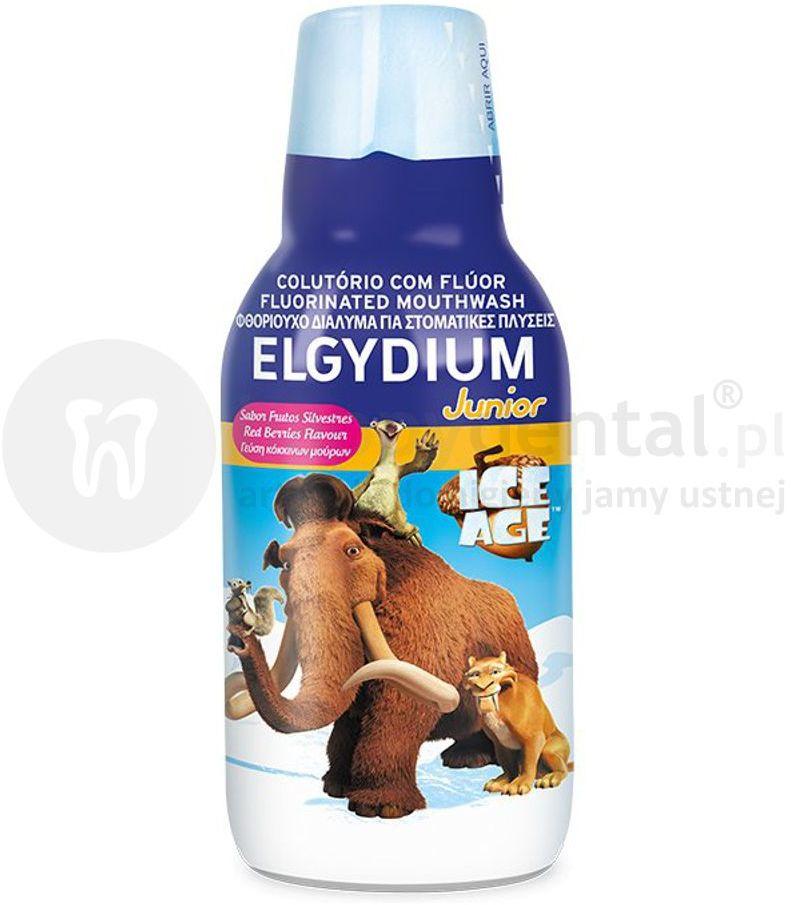 ELGYDIUM Junior ICE AGE płyn do ust dla dzieci od 7 roku życia z fluorem, 500ml