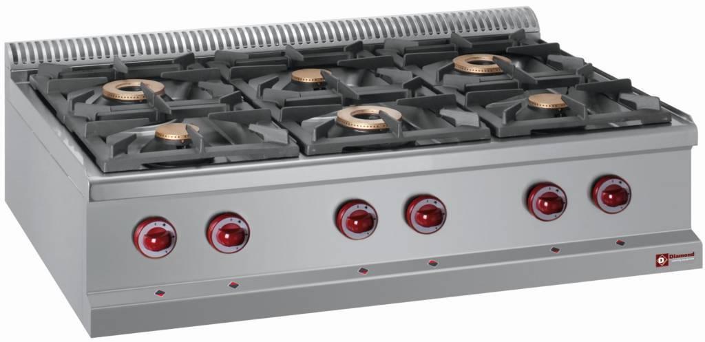 Kuchnia gazowa 6 palnikowa 6x 7000W