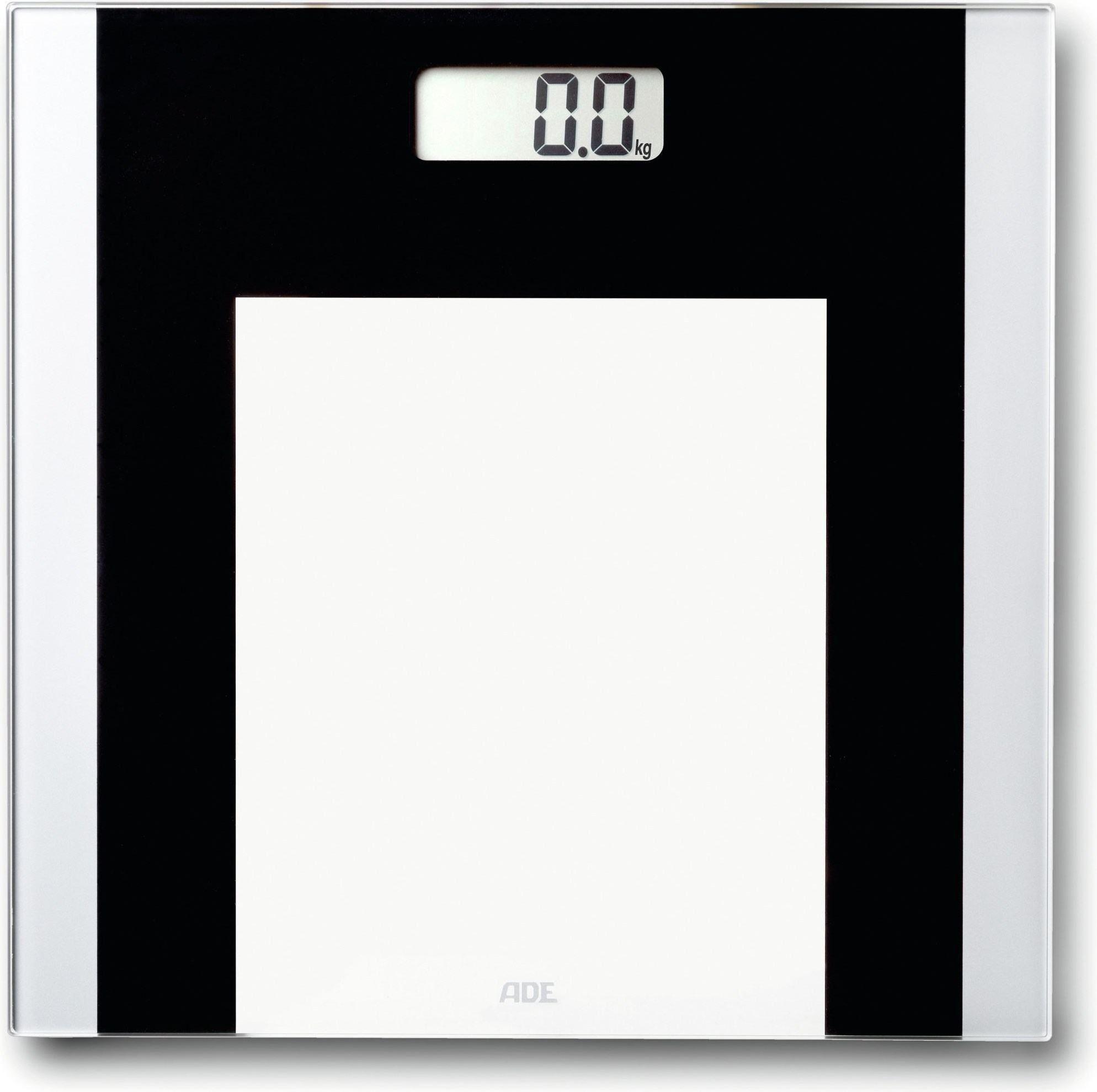 ADE BE1722 Ylvie Szklana waga łazienkowa w bialo czarnej kolorystyce