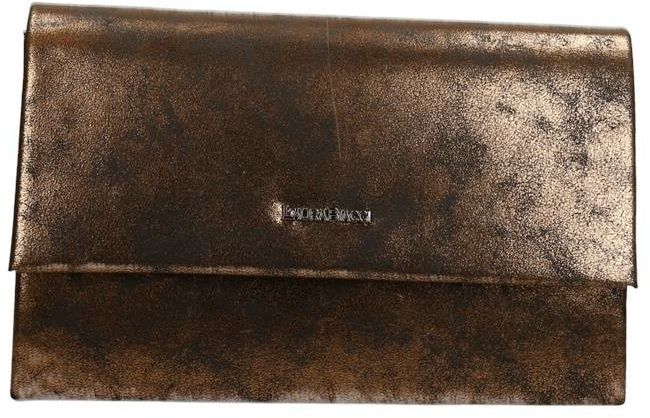 FOKUS FTR10056 Torbebka kopertówka SZARY + ZŁOTY