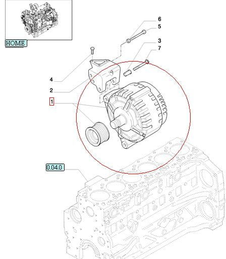 ALTERNATOR 150A NEW HOLLAND CASE STEYR 84141455
