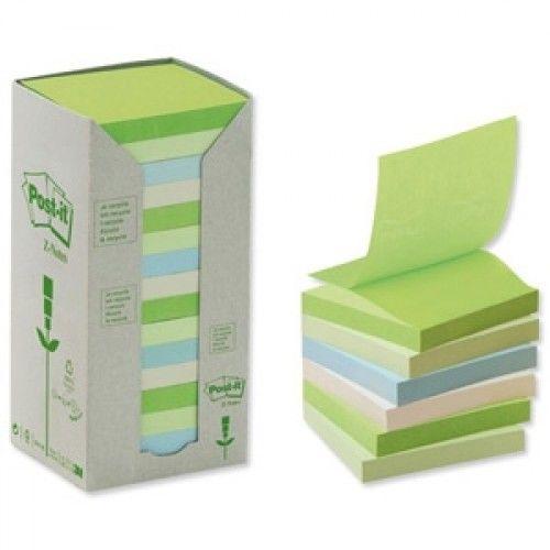 Ekologiczne karteczki samoprzylepne Post-it Z-Notes Pastelowe 76x76mm 16bloczków