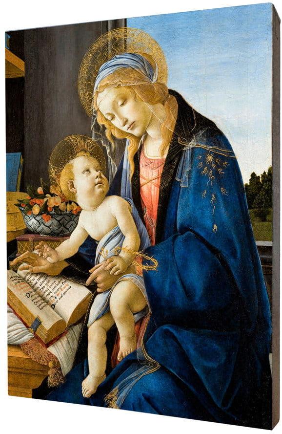 Obraz religijny na desce lipowej, Matka Boża z Dzieciątkiem