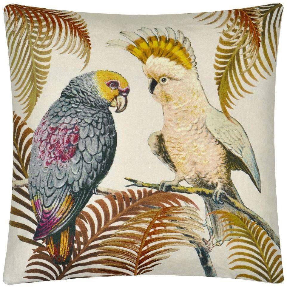 Poduszka dekoracyjna John Derian Parrot and Palm Parchment