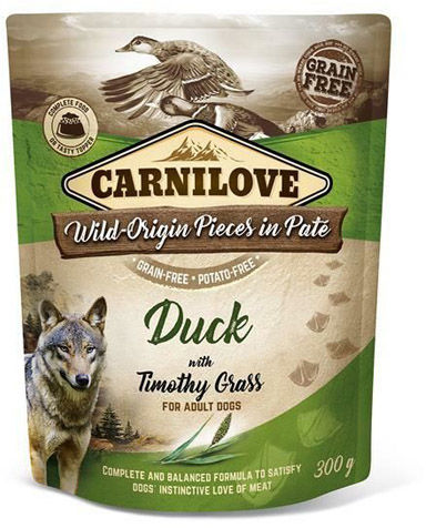 Carnilove DOG POUCH DUCK & TIMOTHY - 300G