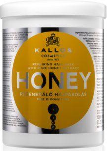 Kallos Honey odbudowująca maska do włosów zniszczonych 1000 ml