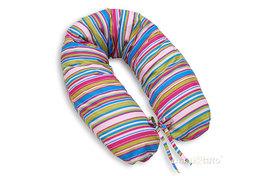 MAMO-TATO Poduszka dla ciężarnych kobiet Paseczki amarantowe