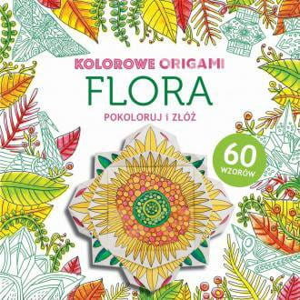 Kolorowanka z origami. Flora