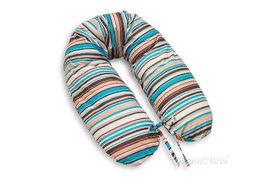 MAMO-TATO Poduszka dla ciężarnych kobiet Paseczki brązowe - WYPRZEDAŻ