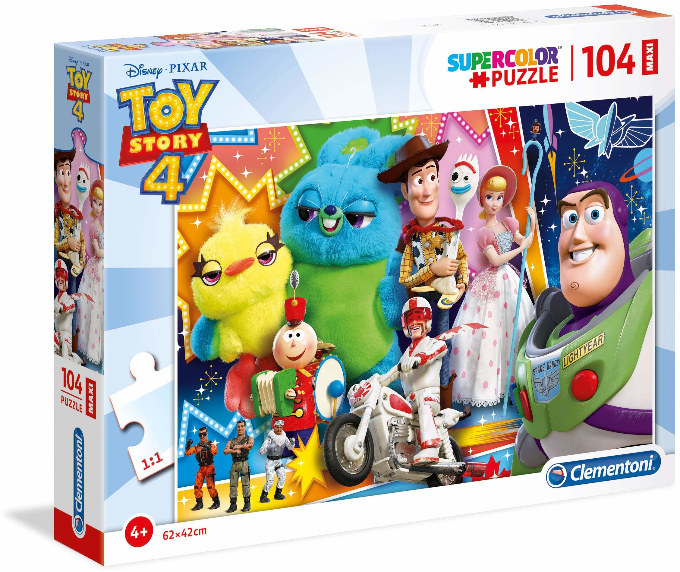 Clementoni 23741 104 szt. Maxi Puzzle Toy Story 4, wielokolorowe