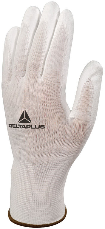 Rękawice robocze powlekane poliuretanem VE702P - BIAŁE