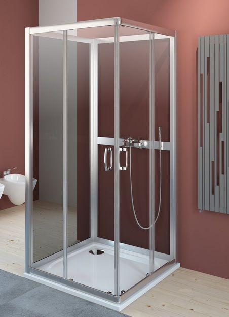 Radaway Premium Plus C+2S kabina czterościenna kwadratowa 90x90 szkło przejrzyste/grafit 30453-01-01N/33433-01-05N